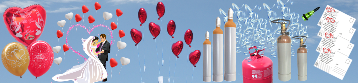 Luftballons Hochzeit Helium-Sets